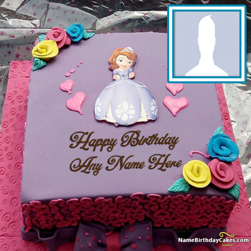 Beautiful Fairy Cakes For Girls Birthday With Name