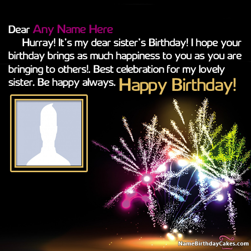 Beautiful Happy Birthday Wishes For Sister With Name