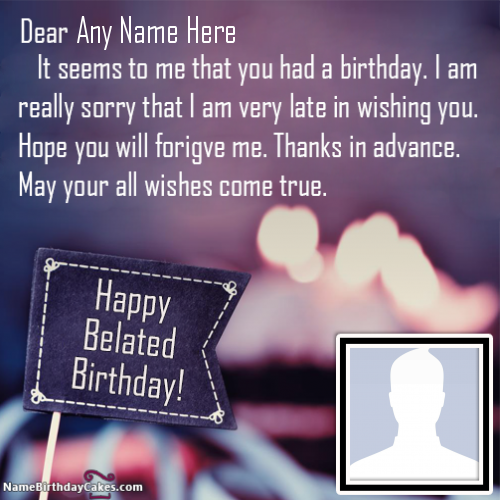 Belated Birthday Wishes Images With Name