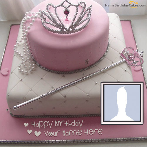 Online Princess Birthday Cake With Name and Photo