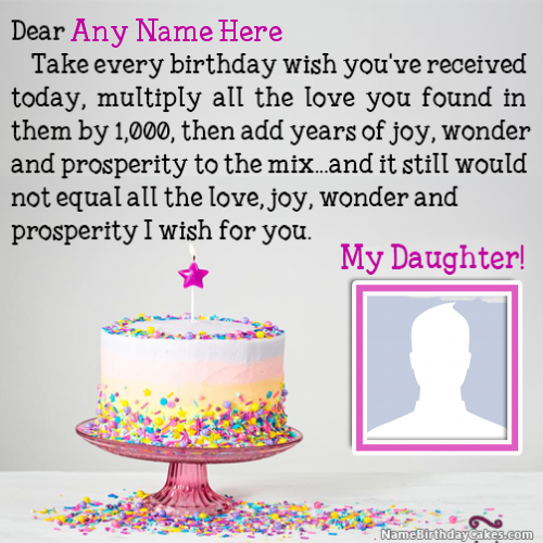 Best Birthday Wishes For Daughter With Name And Photo