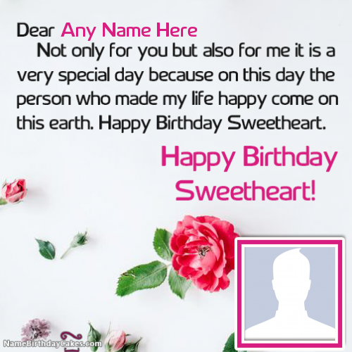 Happy Birthday Wishes For Girlfriend With Name And Photo