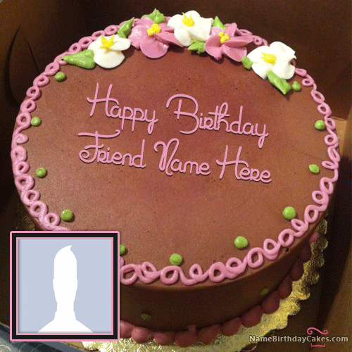 Chocolate Birthday Cake With Name And Photo Editing