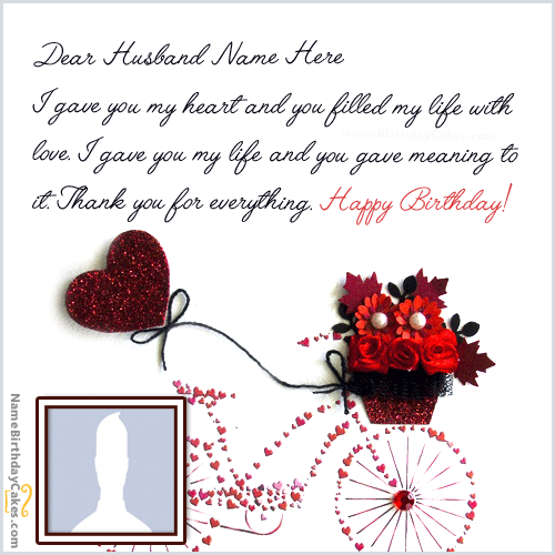 Happy Birthday Wishes For Husband With Name And Photo