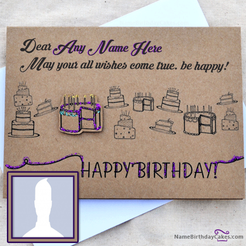 Friend Birthday Greetings Card With Name