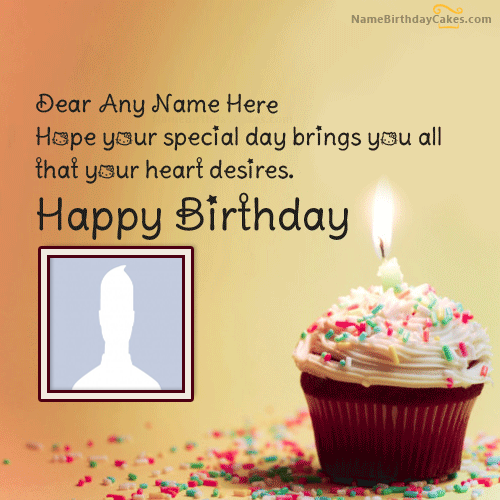 Cupcake Birthday Messages With Name