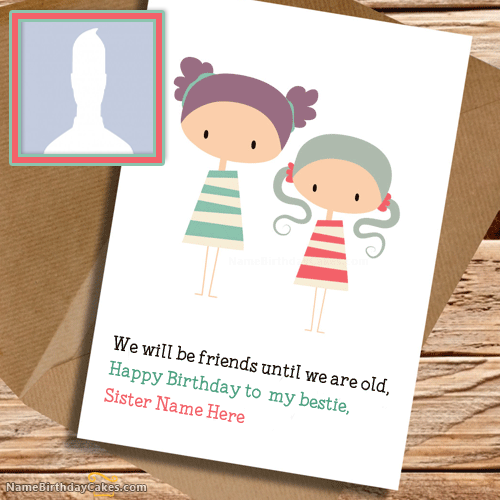 Cute Birthday Cards for Sister With Name