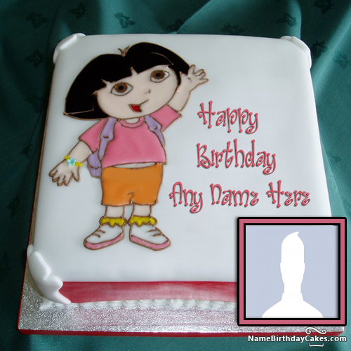 Dora Birthday Cake For Girls With Name