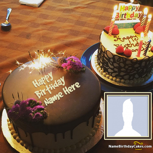 Birthday Cake With Name And Image For Lover