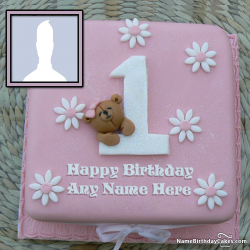 1st Birthday Cakes For Baby Girl With Name