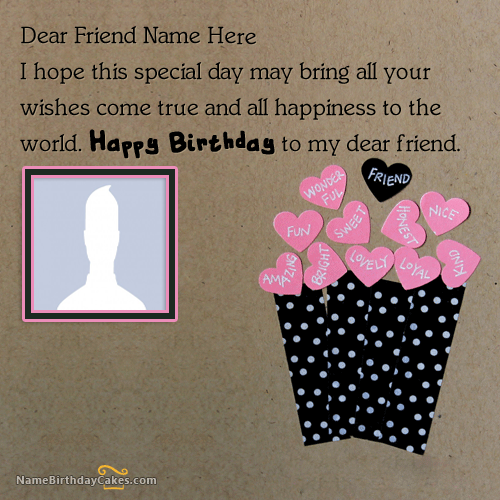 Amazing Birthday Wishes Images For Friend With Name