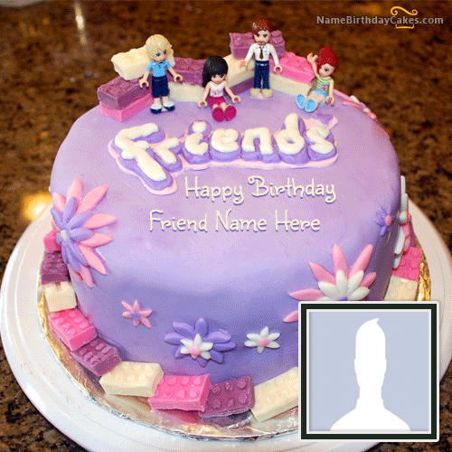 Friendship Birthday Cake For Friends With Name