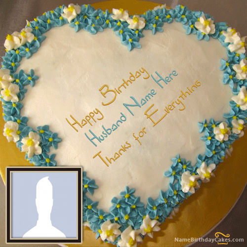 Happy Birthday Wishes For Husband On Cake With Name
