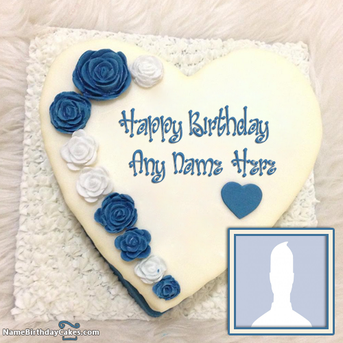 Heart Shape Cake For Boys With Name