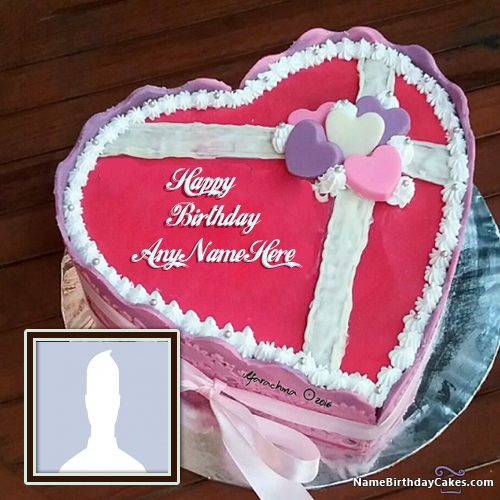 Heart Shaped Birthday Cake For Husband With Name