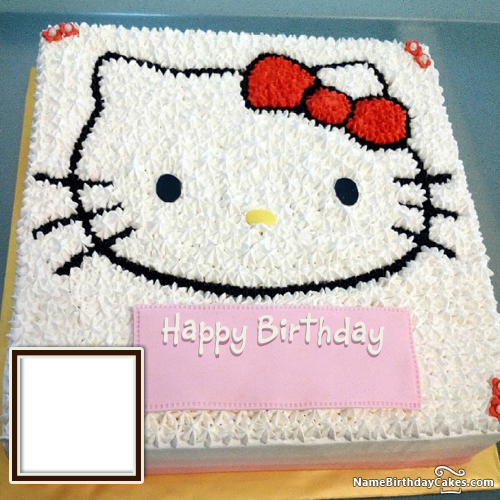 Hello Kitty Birthday Cake For Children With Name