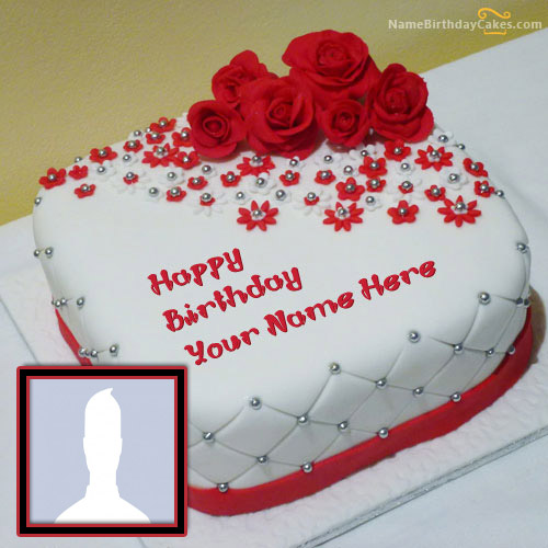 Super Birthday Cake With Name And Photo Editor Online Free Personalised Birthday Cards Epsylily Jamesorg
