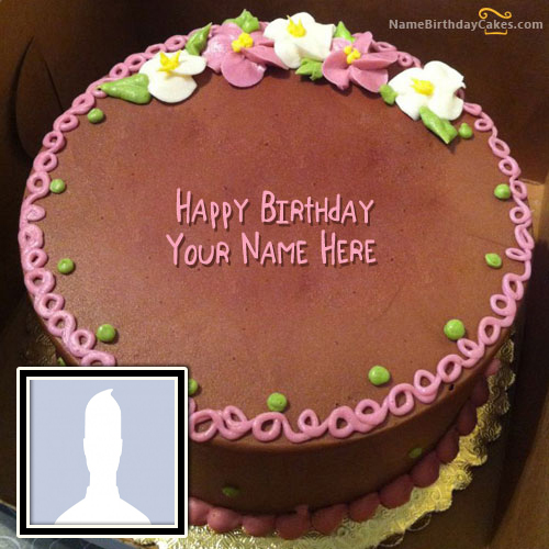 Edit Birthday Cake With Name And Photo For Sister