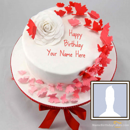 Beautiful Birthday Cakes For Wife With Name and Photo