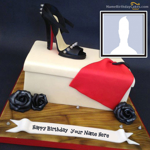 Special Shoe Cake For Wife With Her Name