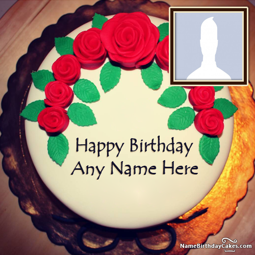 Birthday Cake For Husband With Photo And Name
