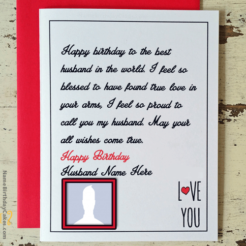 Love Birthday Quotes For Husband With Name