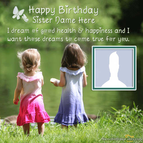Best Sister Birthday Wishes With Name