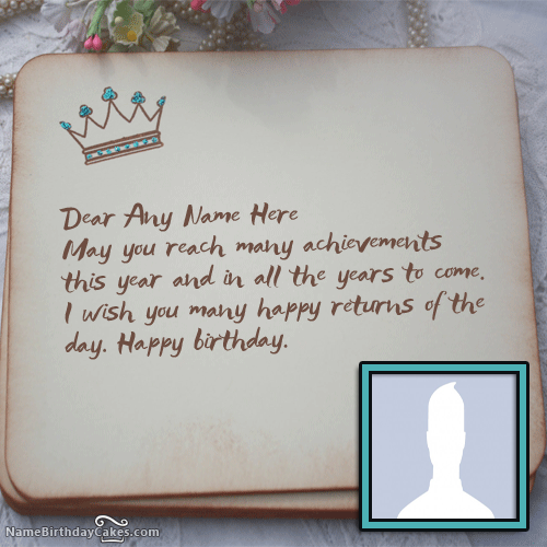 Royal Bday Card Wish With Name