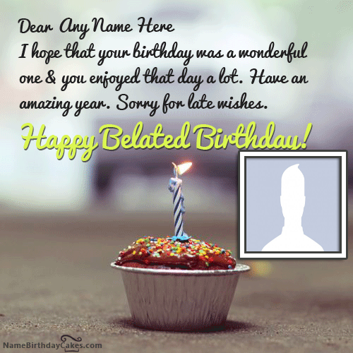Happy Belated Birthday Images With Name