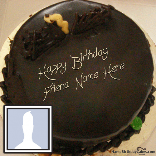 Chocolate Bday Cake With Name For Brother
