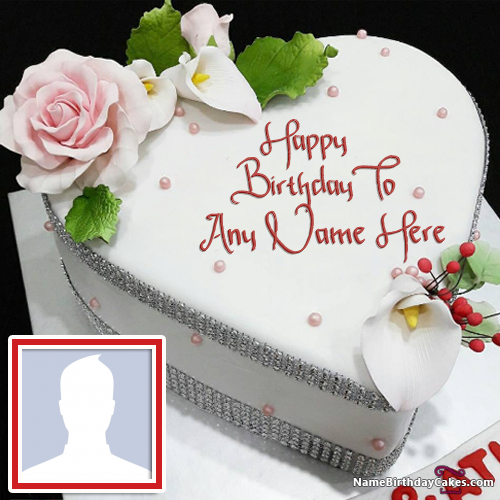Wife Birthday Cake With Personal Photo