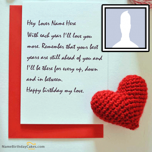 Best Birthday Card With Name For Lover