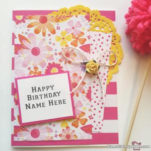 Free Birthday Cards For Sister With Name And Photo