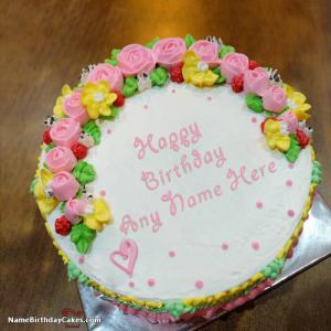 Happy Birthday Cake Wishes For Sister With Name