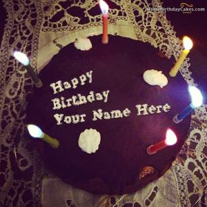 Image Of Birthday Cake For Boyfriend With Name
