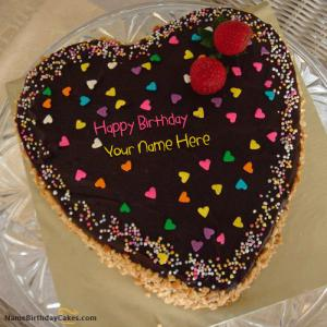 Write Name On Birthday Cake for Girlfriend With Photo