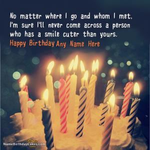 Candles Birthday Wish Image With Name