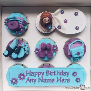 Birthday Cupcakes For Girls Birthday With Name