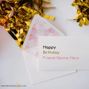 Top Birthday Greeting Card With Name In Envelope