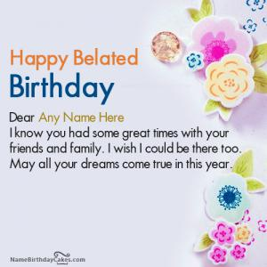 Best Belated Happy Birthday Images With Name