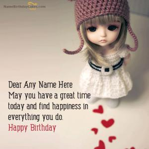 Doll Birthday Wish With Name