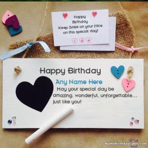 Handmade Happy Birthday Cards Message With Name