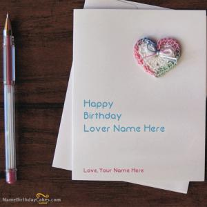 Happy Bday Card For Lover With Name and Photo