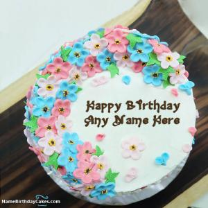 Beautiful Birthday Cake With Name For Sister