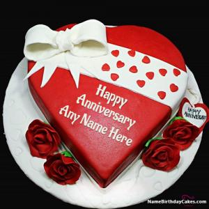 Free Marriage Anniversary Cake With Name