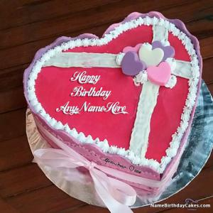 Fine Romantic Birthday Cake For Husband With Photo And Name Funny Birthday Cards Online Fluifree Goldxyz