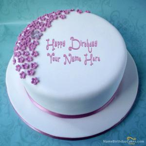 Add Name With Birthday Cake