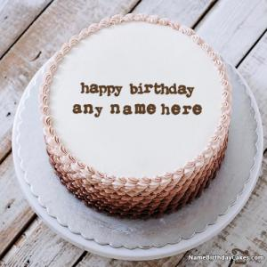 Name On Happy Birthday Cake For Boys With Photo