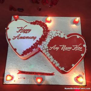 Romantic Anniversary Cakes With Name