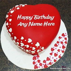 Astonishing Romantic Birthday Cake For Lover With Name Personalised Birthday Cards Veneteletsinfo